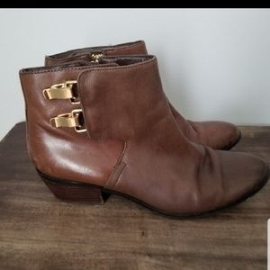 Sam Edelman brown leather Peter buckle boots